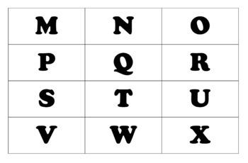 Kinder Upper Case Letters Matching Mats!