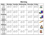 Kinder Visual Schedule Behavior Chart Tracker for home/school