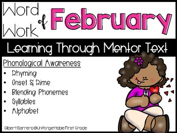 Word Work of February {Learning Through Mentor Text}