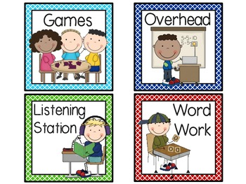 Kinder Work Station Signs-Criss Cross Borders