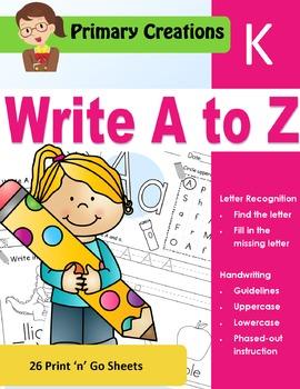 Handwriting Prek Literacy Activities