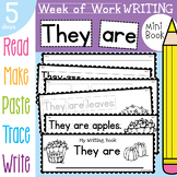 Kinder Writing Book - They are - 5 Day Book - Fall / Autumn