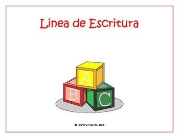 Kinder Writing Lines (Spanish)