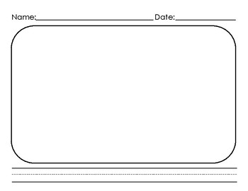 Kinder Writing Paper *Lined* With Picture Box (1 line)