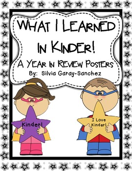 Kinder Year in Review Write-In Posters