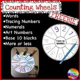 Kinder/Yr 1 Math Center Activity FREEBIE NUMBER WHEEL Task