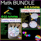 Kinder/Yr 1 Math Center Activity NUMBER WHEEL BUNDLE Tasks Counting Number 0-20