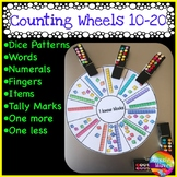 Kinder/Yr 1 Math Center Activity NUMBER WHEEL Tasks Counting Number 10-20