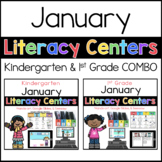 Kinder and 1st Grade January literacy centers