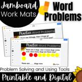 Kinder and 1st Grade Word Problems Task Cards|  Digital Math Activity 1.OA.1