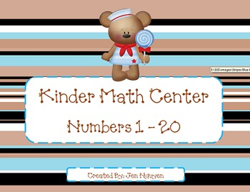 Kinder and 1st Math Number Center