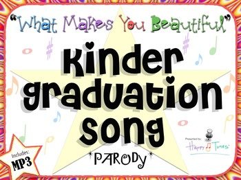 """Kinder graduation """"What Makes You Beautiful"""" song. Mp3 gui"""