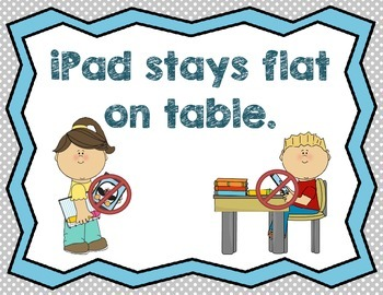 Kinder iPad rules - 3 basic