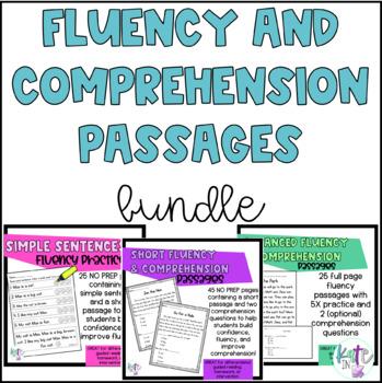 Kinder reading fluency and comprehension BUNDLE!