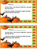 Kinder word problem _Halloween
