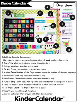 KinderCalendar Curriculum