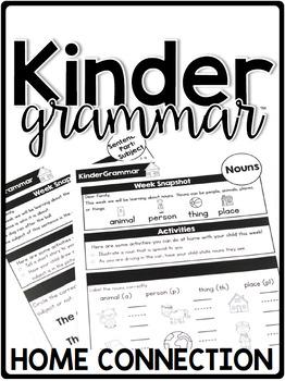 KinderGrammar Kindergarten Grammar Home Connection - Newsletters