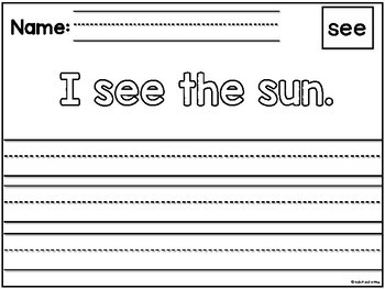 KinderHandwriting Curriculum Part Three: Sentences