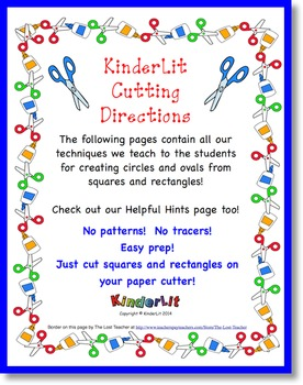 KinderLit Cutting Directions