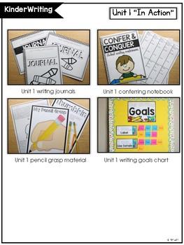 KinderWriting Curriculum Units BUNDLED *GROWING*