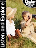 KinderLiteracy® Kindergarten Close Reads Unit One: Listen and Explore