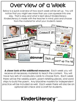 KinderLiteracy™ Unit Six: Listen and Tell the Steps