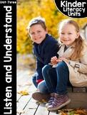 KinderLiteracy™ Kindergarten Close Reads Unit Three: Listen and Understand