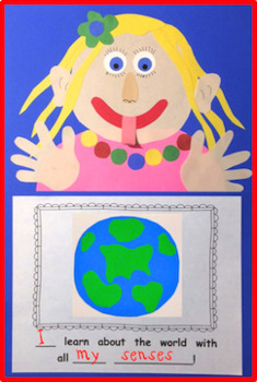 My Five Senses - A Student-Created Collage Book and Writing Journal