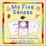 My Five Senses Collage Book and Writing Journal