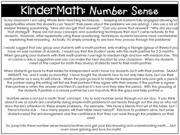 KinderMath® Kindergarten Number Sense