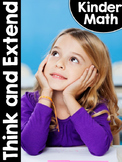 KinderMath™ Kindergarten Math Think and Extend - Exit Tickets