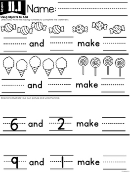 KinderMath™ Unit Eleven: Addition Word Problems
