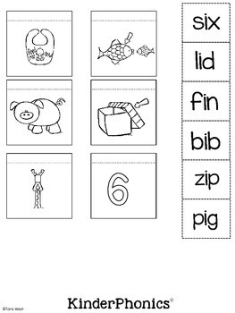 KinderPhonics® Sounds to Words Interactive Notebook