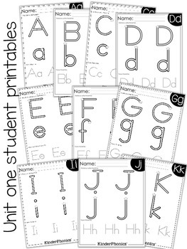 KinderPhonics® Units 1-3 FREE Sampler