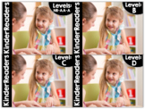 KinderReaders BUNDLED Fiction Levels NR, AA, A, B, C, D *ENGLISH AND SPANISH*
