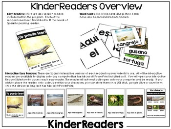 KinderReaders™ Nonfiction Level: A *ENGLISH AND SPANISH*