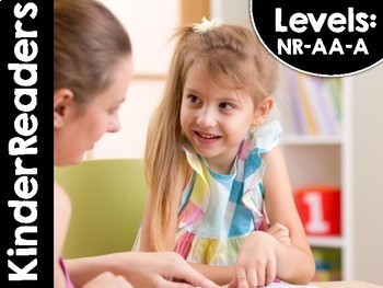 KinderReaders Set One Fiction LEVELS: NR, AA, A *ENGLISH AND SPANISH*