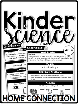 KinderScience Curriculum Home Connection