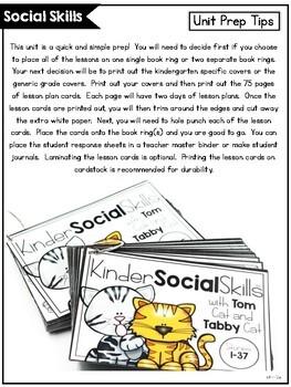 KinderSocialSkills 2nd Version: Kindergarten Social Skill Curriculum