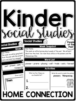 KinderSocialStudies Kindergarten Social Studies Set 2 Home Connection-Newsletter