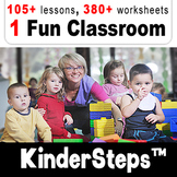 KinderSteps™ Pre-K/Kindergarten bundle ☆16☆ units, lesson plans and printables
