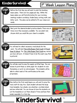KinderSurvival: Kindergarten Back to School Curriculum