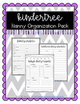 KinderTree Nanny Organization Pack