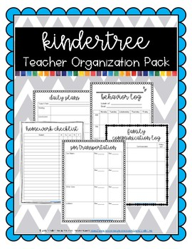 KinderTree Teacher Organization Pack