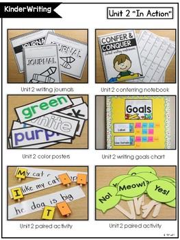 KinderWriting Curriculum Unit 2: Kindergarten Writing With Sentences