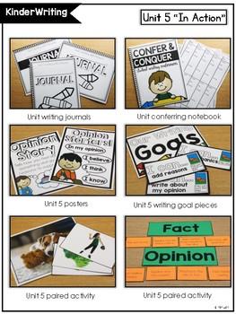 KinderWriting Curriculum Unit 5: Kindergarten Writing With Opinion