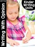 KinderWriting Curriculum Unit 5: Kindergarten Writing With