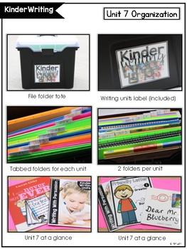 KinderWriting Curriculum Unit 7: Kindergarten Writing With Persuasion