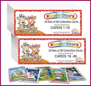 Kinderbears Collectible Cards-Classroom Reward Program