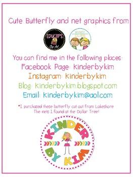 Kinderbykim's Catching Butterflies In My Net Sight Word Activity Freebie!